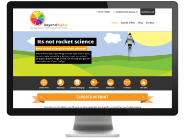 Screenshot of Beyond Digital in Ripon Wordpress Website developed by Sourmash Internet